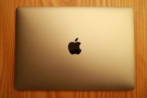 Macbook閉じて上から撮った写真