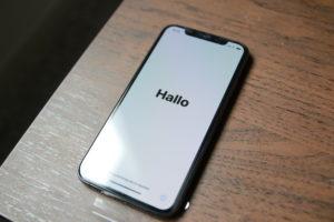 iPhoneXSセットアップ時
