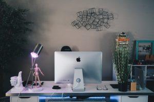 iMac背面から
