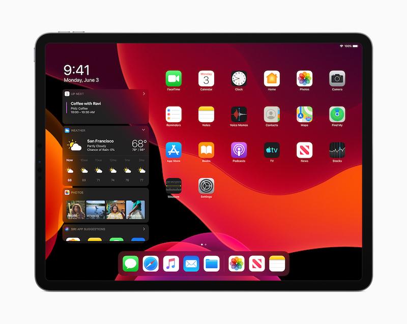 iPad OS ダークモード
