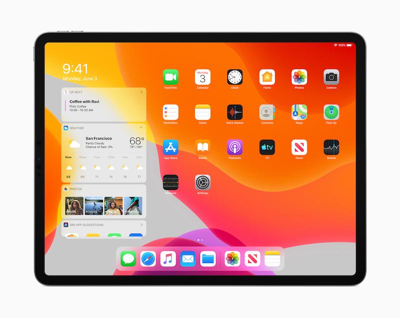 iPadOSホーム画面