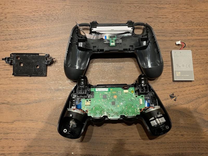 PS4コントローラー分解 黒のカバーも外した