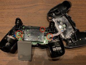 PS4コントローラー分解 接続