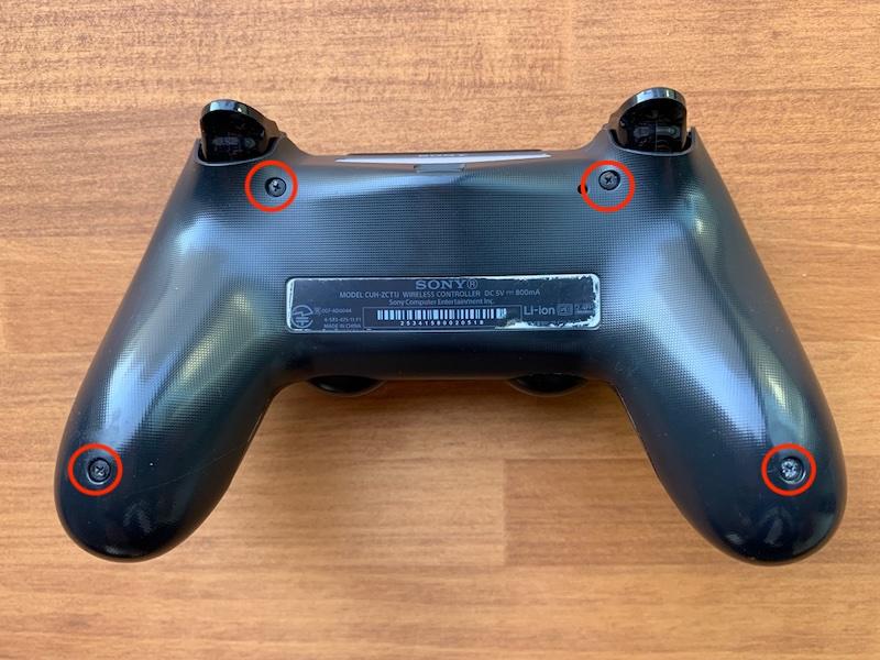 PS4コントローラー裏