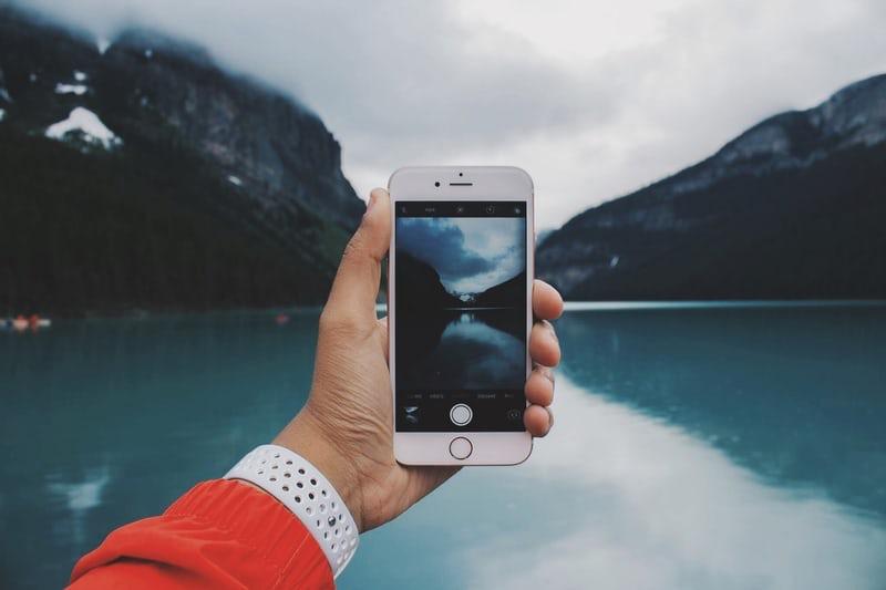 iPhone blue