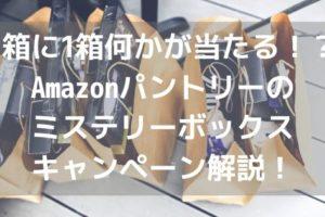 5箱に1箱何かが当たる!?Amazonパントリーのミステリーボックスキャンペーン解説!アイキャッチ