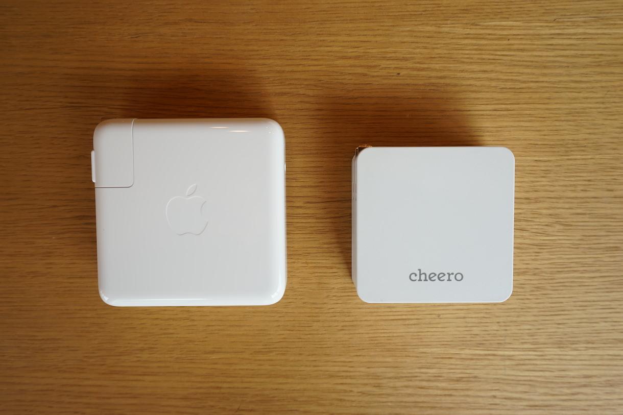 CHE−328とMacbookpro純正充電器