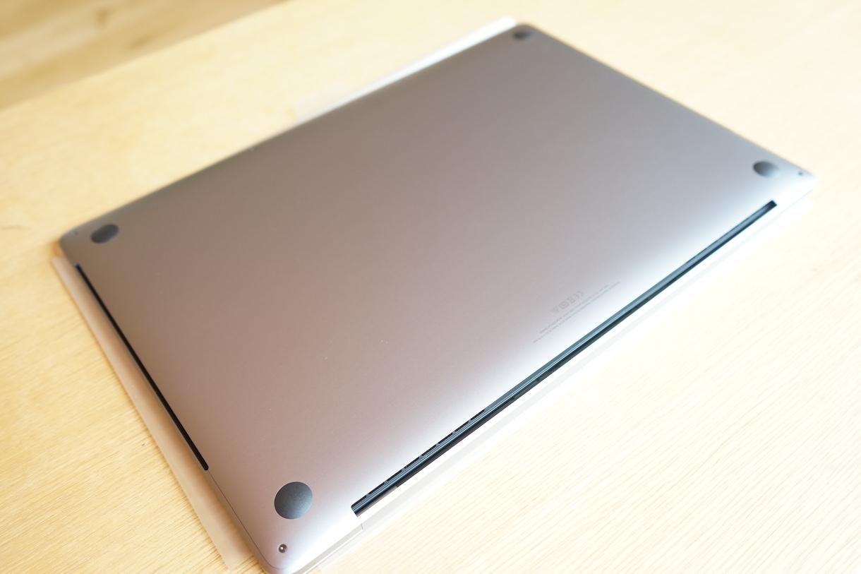 MacbookPro16inch裏面