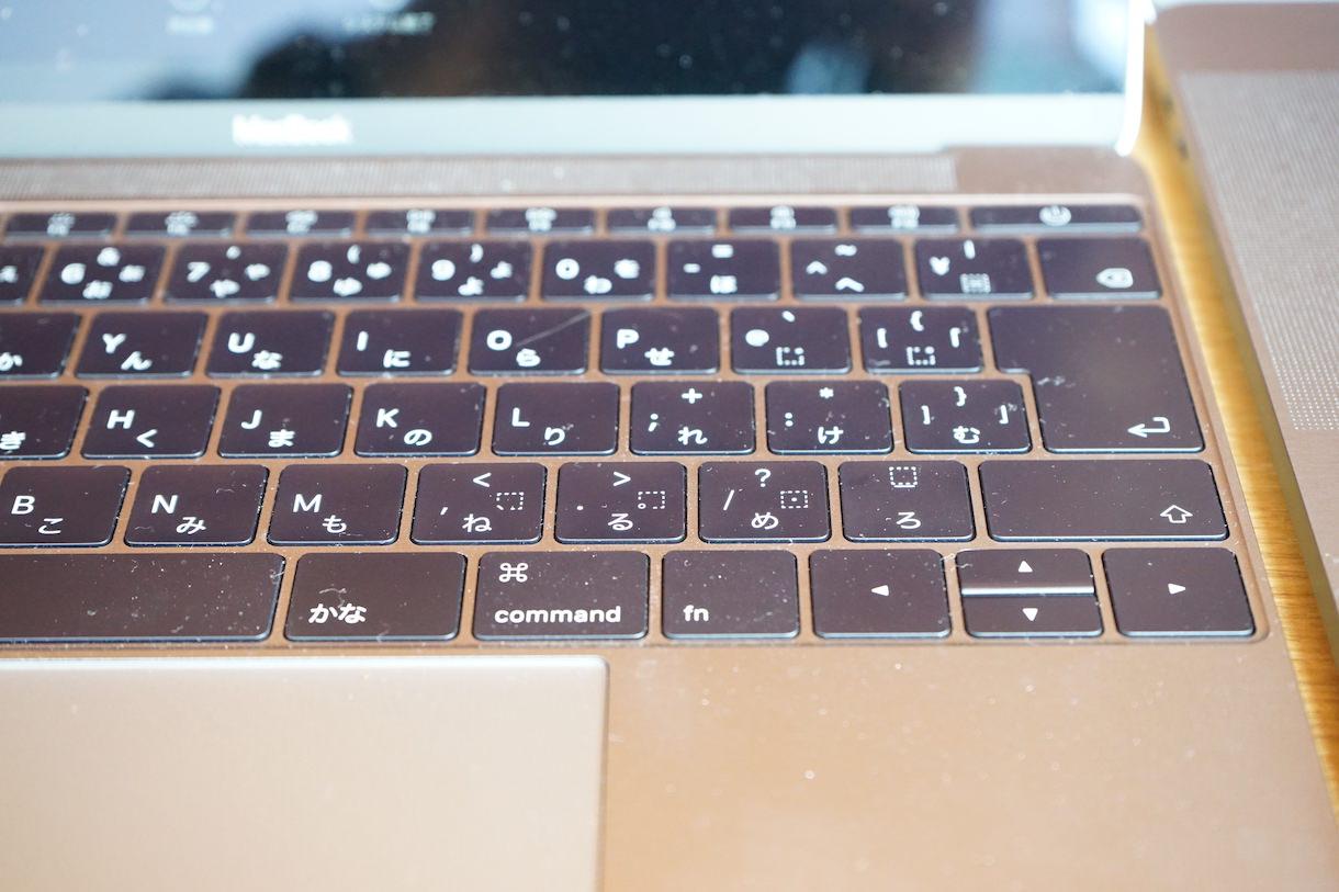MacbookPro12インチ-キーボード